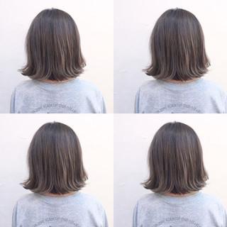 ハイライト グラデーションカラー 暗髪 ボブ ヘアスタイルや髪型の写真・画像