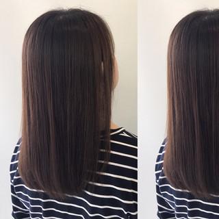 リラックス ミディアム ナチュラル 梅雨 ヘアスタイルや髪型の写真・画像 ヘアスタイルや髪型の写真・画像