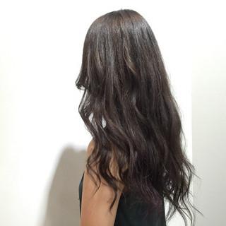 黒髪 ロング 大人かわいい ストリート ヘアスタイルや髪型の写真・画像