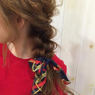 イルミナカラー デート 簡単ヘアアレンジ ロング ヘアスタイルや髪型の写真・画像