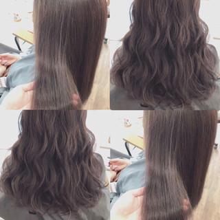 透明感 ハイライト グレージュ フェミニン ヘアスタイルや髪型の写真・画像