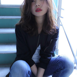 暗髪 ストリート ミディアム 外国人風 ヘアスタイルや髪型の写真・画像