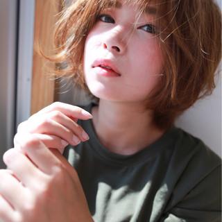 エフォートレス ショートボブ ショート 小顔 ヘアスタイルや髪型の写真・画像 ヘアスタイルや髪型の写真・画像