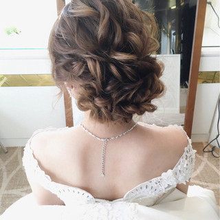 結婚式 大人女子 ガーリー パーティ ヘアスタイルや髪型の写真・画像