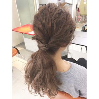ショート セミロング ポニーテール 簡単ヘアアレンジ ヘアスタイルや髪型の写真・画像 ヘアスタイルや髪型の写真・画像