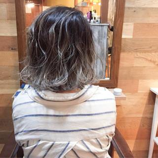 ボブ インナーカラー 外国人風カラー ストリート ヘアスタイルや髪型の写真・画像
