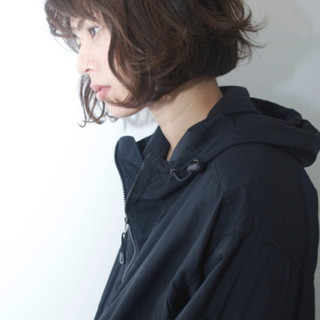 ボブ ミルクティー ニュアンス 小顔 ヘアスタイルや髪型の写真・画像