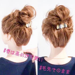 フェミニン デート 簡単ヘアアレンジ アップスタイル ヘアスタイルや髪型の写真・画像 ヘアスタイルや髪型の写真・画像
