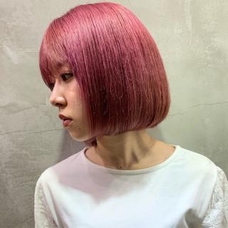 ブリーチ ブリーチカラー ヘアアレンジ ボブ ヘアスタイルや髪型の写真・画像 ヘアスタイルや髪型の写真・画像
