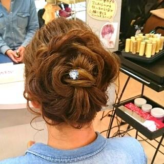 ヘアアレンジ 和装 ロング ブライダル ヘアスタイルや髪型の写真・画像