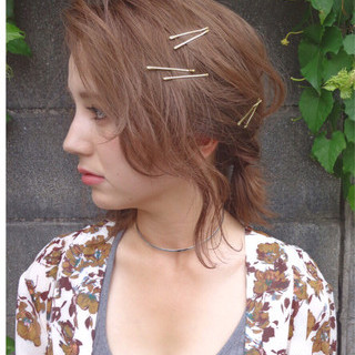 セミロング ナチュラル ゆるふわ ショート ヘアスタイルや髪型の写真・画像 ヘアスタイルや髪型の写真・画像