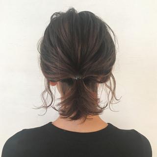 オフィス 簡単ヘアアレンジ ヘアアレンジ ストリート ヘアスタイルや髪型の写真・画像 ヘアスタイルや髪型の写真・画像