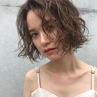 ショート 色気 デート 透明感 ヘアスタイルや髪型の写真・画像