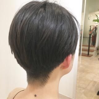 刈り上げ ショート 刈り上げショート オフィス ヘアスタイルや髪型の写真・画像