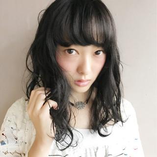 色気 アッシュ 暗髪 グレージュ ヘアスタイルや髪型の写真・画像