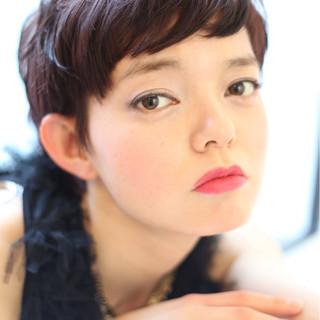 小顔 上品 ベリーショート ショート ヘアスタイルや髪型の写真・画像