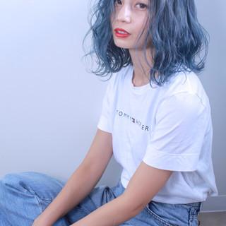 ブリーチ ミディアム ストリート 外国人風カラー ヘアスタイルや髪型の写真・画像