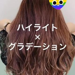 3Dカラー ハイライト 外国人風 ハイトーン ヘアスタイルや髪型の写真・画像