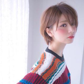 村松彩さんのヘアスナップ