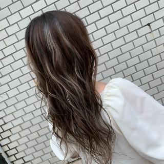 ブリーチ N.オイル コントラストハイライト ホワイトハイライト ヘアスタイルや髪型の写真・画像