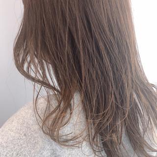 春 セミロング デート ナチュラル ヘアスタイルや髪型の写真・画像
