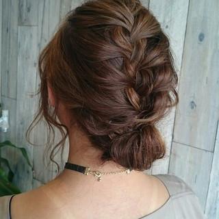 簡単ヘアアレンジ 女子会 ヘアアレンジ フェミニン ヘアスタイルや髪型の写真・画像