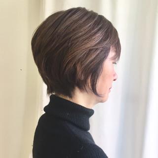 エレガント アッシュベージュ グレージュ ショート ヘアスタイルや髪型の写真・画像 ヘアスタイルや髪型の写真・画像