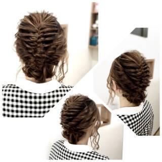 コンサバ ヘアアレンジ 編み込み ロング ヘアスタイルや髪型の写真・画像