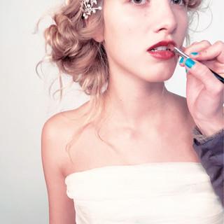 パーティ 大人かわいい 結婚式 モード ヘアスタイルや髪型の写真・画像