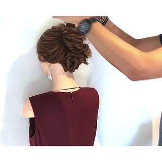 色気 女子会 簡単ヘアアレンジ ヘアアレンジ ヘアスタイルや髪型の写真・画像