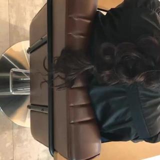 デート 黒髪 リラックス ロング ヘアスタイルや髪型の写真・画像