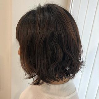 簡単 ボブ ショートボブ オフィス ヘアスタイルや髪型の写真・画像