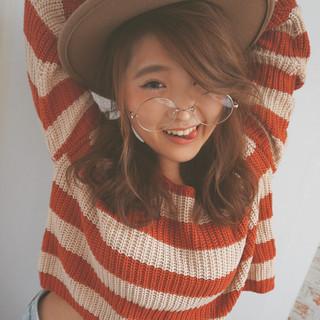 ヘアアレンジ モテ髪 秋 ゆるふわ ヘアスタイルや髪型の写真・画像