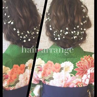 ショート ヘアアレンジ 簡単ヘアアレンジ セミロング ヘアスタイルや髪型の写真・画像 ヘアスタイルや髪型の写真・画像