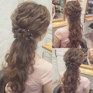 ロング 大人かわいい ショート ハーフアップ ヘアスタイルや髪型の写真・画像