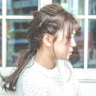 うぶバング ロング フェミニン 波ウェーブ ヘアスタイルや髪型の写真・画像