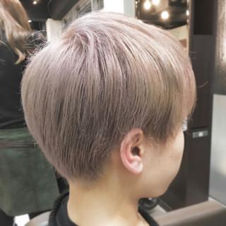 マッシュ モード ショート シルバー ヘアスタイルや髪型の写真・画像 ヘアスタイルや髪型の写真・画像