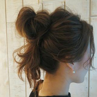 ヘアアレンジ セミロング 夏 簡単ヘアアレンジ ヘアスタイルや髪型の写真・画像 ヘアスタイルや髪型の写真・画像