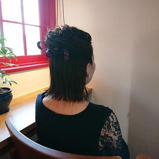 大人かわいい 秋 ガーリー ハーフアップ ヘアスタイルや髪型の写真・画像 ヘアスタイルや髪型の写真・画像