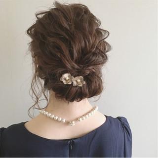 ヘアアレンジ ナチュラル 結婚式 大人かわいい ヘアスタイルや髪型の写真・画像 ヘアスタイルや髪型の写真・画像