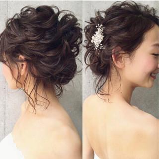 パーティ ヘアアレンジ 大人女子 ボブ ヘアスタイルや髪型の写真・画像 ヘアスタイルや髪型の写真・画像