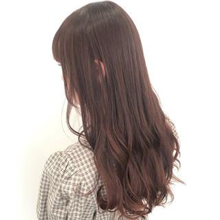 ピンク フェミニン ピンクアッシュ ロング ヘアスタイルや髪型の写真・画像