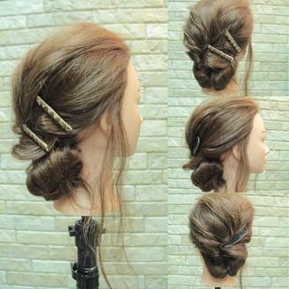 ショート くるりんぱ 外国人風 ヘアアレンジ ヘアスタイルや髪型の写真・画像