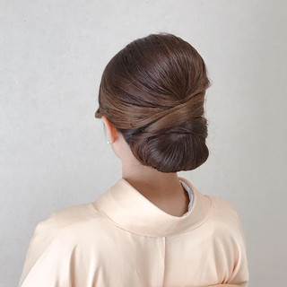 ヘアアレンジ 結婚式 成人式 セミロング ヘアスタイルや髪型の写真・画像