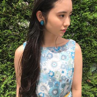 女子会 ロング リラックス 色気 ヘアスタイルや髪型の写真・画像