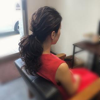 ローポニー エレガント ローポニーテール ポニーテール ヘアスタイルや髪型の写真・画像
