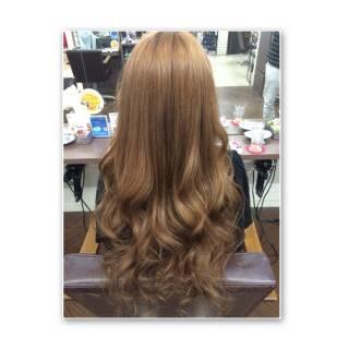 ロング 渋谷系 春 ブラウンベージュ ヘアスタイルや髪型の写真・画像