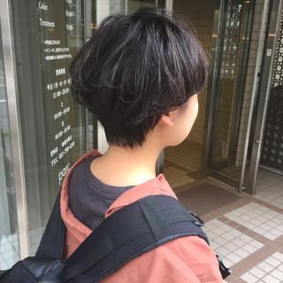 ハンサムショート ショートヘア ショート 前下がりショート ヘアスタイルや髪型の写真・画像