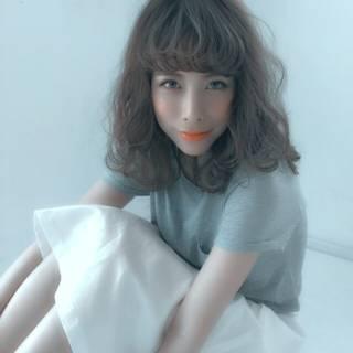 グラデーションカラー モテ髪 外国人風 ガーリー ヘアスタイルや髪型の写真・画像