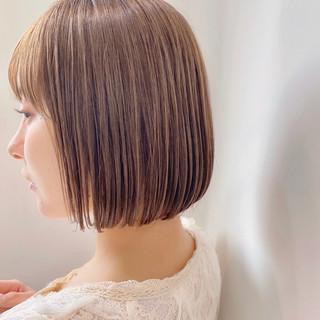 ミニボブ ショートヘア ショートボブ ナチュラル ヘアスタイルや髪型の写真・画像